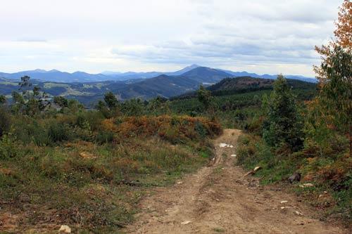 Privilegiadas vistas desde el cordal del Berreaga.