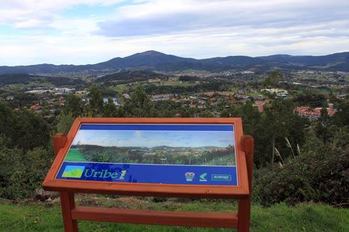 Espléndidas vistas de la comarca de Uribe.