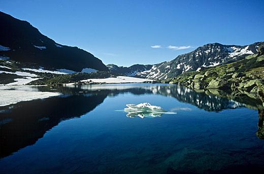 Lago de postal en Tristaina.