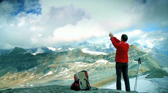 Pablo Domínguez se sentía cerca de Dios en las alturas.