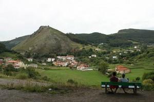Bonitas vistas de Ontón, ya en Cantabria, ¿o no?