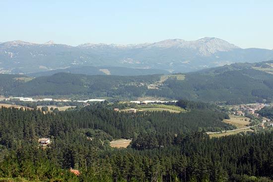 Bonita vista de los valles.