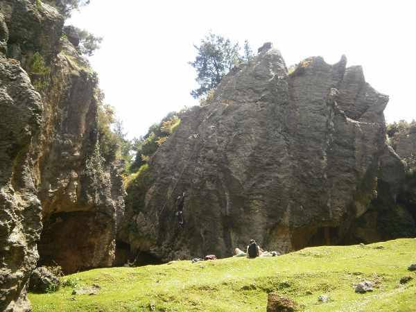 Las formas de las rocas dan mucho juego.
