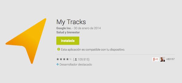 No corras, que My Tracks, app de Google, es gratis.