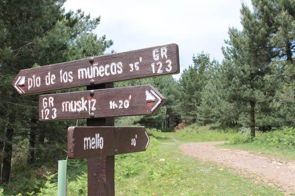 No mentimos cuando decimos que el ascenso al Mello desde Muskiz no tiene pérdida...