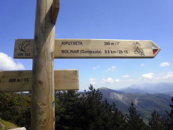 Próximo objetivo a la vista: monte Kiputxeta.