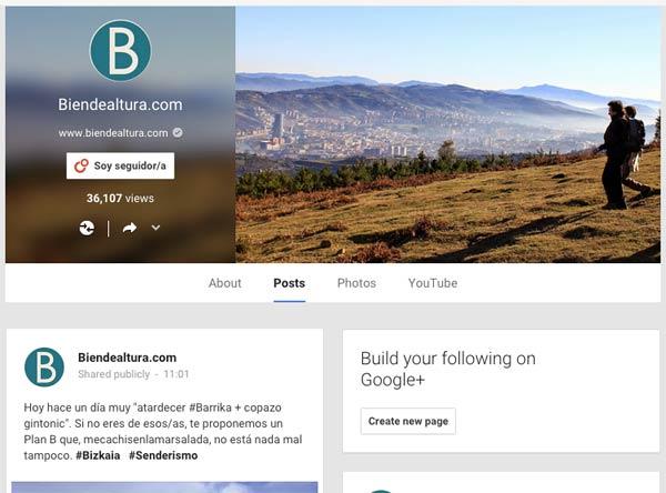En Biendealtura.com apoyamos a las minorías (los usuarios de Google+ lo son).