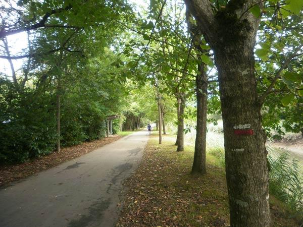 Los primeros metros de la ruta son un auténtico paseo dominguero.