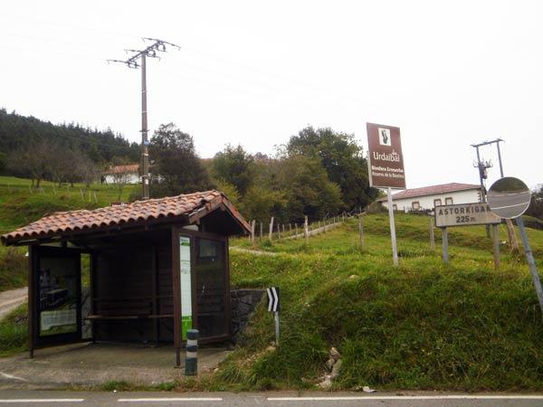 Alto de Astorkigana, final de etapa del GR 98 (Vuelta a Urdaibai).