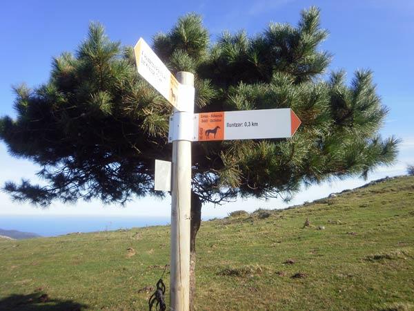 Ya casi hemos llegado a la cima del Illuntzar.