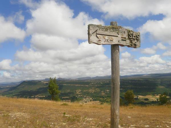 Y ahora, a disfrutar del paseo con vistas al valle.