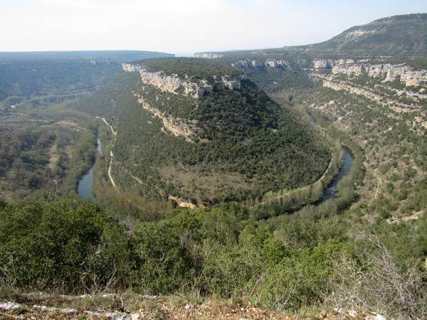 Espectacular el cañón del río Ebro.