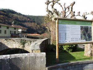 Vista de la localidad vizcaína de Lanestosa.