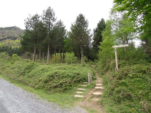 Ya vemos cerca la ermita del monte Kolitza.