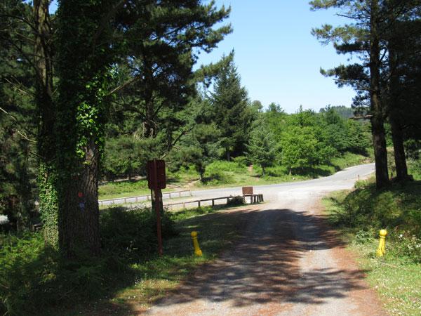 Alto de Rigadas. Tomando la carretera a la izquierda no hay pérdida hasta Zalla.